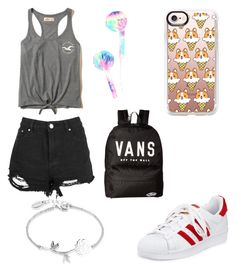 """""""cc"""" by im96bis on Polyvore featuring adidas, Boohoo, Hollister Co., Hot Topic, Casetify, Vans and Disney"""