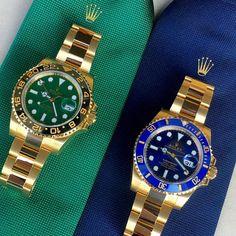 Rolex Watches - Double trouble is dedicated to Denise Okeefe congrats for reaching fol. Diesel Watches For Men, Rolex Watches For Men, Mens Sport Watches, Luxury Watches For Men, Cool Watches, Gents Watches, Rolex Submariner, Rolex Boutique, Rolex Wrist Watch