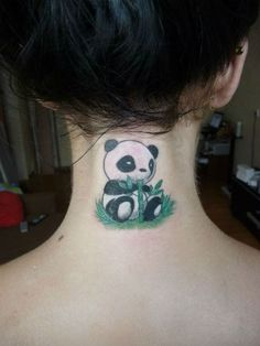Panda tattoos, a collection of unique ink ideas that every panda lover would die to have. Looking like a cute teddy bear, this peaceful black and white animal has become very popular in contemporary art, although is not a main stream tattoo in itself. Panda tattoos are a great way to express serenit…
