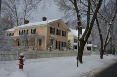 Estate along Cliffwood St Lenox MA Snowy Filming, Shooting Location