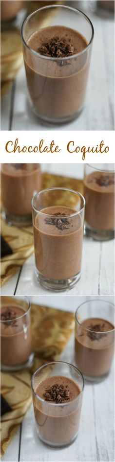 Chocolate Coquito - A chocolate flavored variation of the Puerto Rican Coquito, a coconut eggnog cocktail served during the holidays.