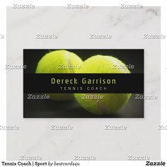 Tennis Coach   Sport Business Card Business Card Design, Creative Business, Business Cards, Name Card Design, Name Cards, Tennis, Things To Come, Sports, Art