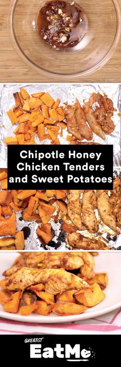Marinating ahead of time makes for a crazy-easy dinner. #chicken #sweetpotato http://greatist.com/eat/honey-chipotle-chicken-sweet-potato-recipe-video