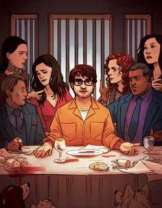 """sairobee: """"One of you will betray me."""" For the Banquet Hannibal artbook! A special thanks to Dotiscute and Thingofthings for all their help. :D Every time we look at this we notice something else. Hannibal Tv Show, Hannibal Series, Hannibal Lecter, Will Graham Hannibal, Sir Anthony, Hugh Dancy, Mads Mikkelsen, Jojo's Bizarre Adventure, Betrayal"""