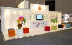 Beautiful graphic design!  CooperVision 9x3 exhibition stand at SRC