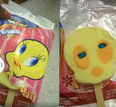 Behold the Tweety Bird Ice Cream Pop! Now with real Gumball eyes!