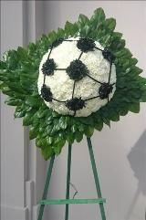 Soccer ball floral tribute Funeral Flowers, Sympathy Flowers, Funeral Flower Arrangements from San Francisco Funeral Flowers.com Search for chinese funeral, sympathy funeral flower arrangements from our SanFranciscoFuneralFlowers.com website. Our funeral and sympathy arrangements include crosses, casket covers, hearts, wreaths on wood easels, coronas fúnebres, arreglos fúnebres, cruces para velorio, coronas para difunto, arreglos fúnebres, Florerias, Floreria, arreglos florales, corona…