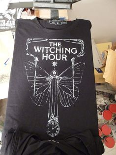 THE WITCHING HOUR 2 inks steel grey and white tshirt by AVANTEHERMETICO