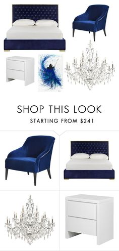 """Quarto azul e branco"" by manoeladeaguiar-farias ❤ liked on Polyvore featuring interior, interiors, interior design, home, home decor, interior decorating, BYRON, Safavieh and Frontgate"
