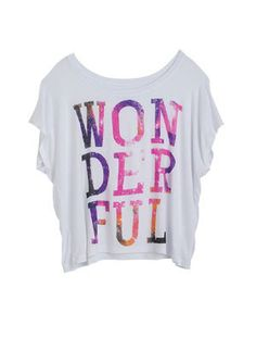 dELiAs > Wonderful Today Tee > clothes > graphic tees > artistic