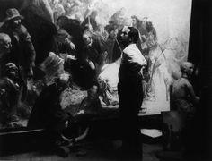 Annigoni Working on Sermon on the Mount by Pietro Annigoni