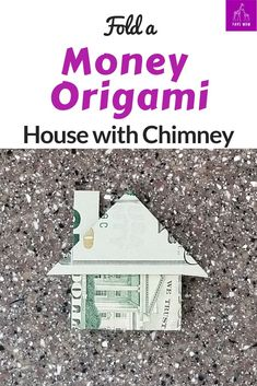 Dollar Origami House Easy to fold Money origami house. Video tutorial with step by step instructions. Easy to fold Money origami house. Video tutorial with step by step instructions. Easy Money Origami, Oragami Money, Money Origami Tutorial, Origami Gifts, Origami Paper Art, Useful Origami, Origami Instructions, Origami Boxes, Origami Folding