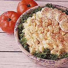 """5 Star!   Mama's Potato Salad - """"THIS old-fashioned potato salad recipe doesn't have many ingredients, so it isn't as colorful as many that you find nowadays. But Mama made it the way her mother did, and that's the way I still make it today. Try it and see if it isn't one of the best-tasting potato salads you have ever eaten!"""""""