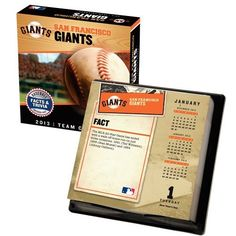 Perfect Timing - Turner 2013 San Francisco Giants Box Calendar (8051054) by Perfect Timing - Turner. $20.99. Need to brush up on team and league trivia? Our team and league box calendars are filled with team and league data and gives you a daily calendar that fits perfectly into small spaces.