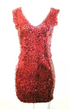 c94bc063f80a8 Shop Kami Shade  - Red Hot V Front Neckline Sleeveless Sequin Party Dress