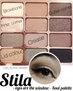 Eye look using only the Stila 'eyes are the window' Soul palette.
