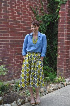 chambray shirt and that skirt