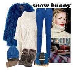 """Snow Bunny"" by katiethomas-2 ❤ liked on Polyvore featuring Woolrich, Balmain, Eugenia Kim, Fendi, Burberry and rag & bone"