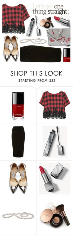 """""""Bez naslova #86"""" by sandra-markovic ❤ liked on Polyvore featuring Chanel, Rosamosario, Topshop, Burberry, Jimmy Choo, Nude by Nature and Dolce&Gabbana"""