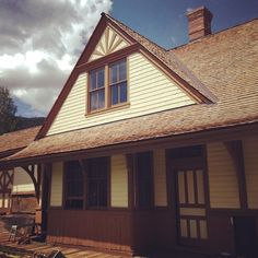 Instagram photo by @preservecolorado. The #CrestedButte #depot in #gunnisoncounty undergoing restoration with help from a #statehistoricalfund grant with the Town. #preserveco #historicalpreservation #architecture #architectureporn #architecturelover #traindepot