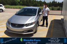Happy Anniversary to Gabe on your #Honda #Civic Sedan from Austin Bell at Honda Cars of Rockwall!  https://deliverymaxx.com/DealerReviews.aspx?DealerCode=VSDF  #Anniversary #HondaCarsofRockwall
