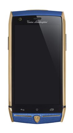 Lamborghini 88 #Tauri #Smartphone in Gold with #Blue #Leather