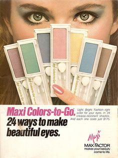 Maxi Colors-to-Go eyeshadow from the 80's.