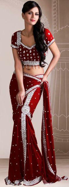 Wedding Look Lehenga Sari. Lehenga Saree, Saree Dress, Indian Dresses, Indian Outfits, Collection Eid, Beauty And Fashion, Style Fashion, Saree Styles, Bollywood Stars