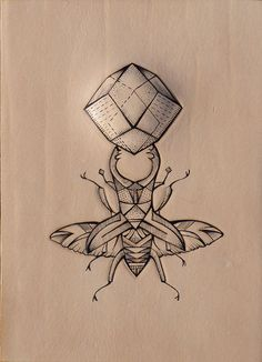 """""""Geometric bug wings"""". Entomology series. Punctured Artefact. Tattooed leather, edition of 16."""