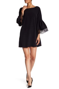 Long Bell Sleeve Shift Dress by Laundry By Shelli Segal on @nordstrom_rack