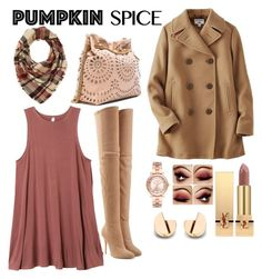 """🍂🍁"" by rebeckarosdahl ❤ liked on Polyvore featuring Uniqlo, RVCA, Balmain, STELLA McCARTNEY, Charlotte Russe, Michael Kors and Yves Saint Laurent"