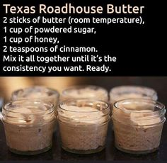 Copy cat Texas Roadhouse butter!