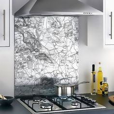 Personalise your Glass Splashbacks with Vintage or present day OS mapping Os Maps, Ordnance Survey Maps, Kitchen Units, Kitchen Ideas, British Standards, Wood Vinyl, Custom Map, Vintage Maps, Glass Kitchen