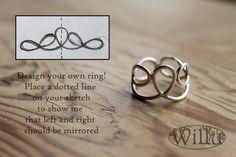 ontwerp je eigen zilveren ring volledig handgemaakt door WilluNL