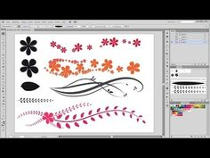 How to make custom Brushes in Adobe Illustrator. Create beautiful ornaments and other floral backgrounds with these brushes. Adobe Illustrator Tutorial about. Graphic Design Fonts, Graphic Design Tutorials, Graphic Design Illustration, Graphic Design Inspiration, Vector Design, Design Ideas, Vector Art, Adobe Illustrator Tutorials, Photoshop Illustrator
