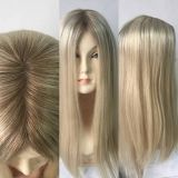 Inspiration for diy topper Dark Rooted Golden Blonde Human Hair Toppers And Wiglets For Women With Thinning Hair Blonde Roots, Blonde Wig, Golden Blonde, Golden Hair, Thinning Hair Remedies, Blonde Extensions, Diy Wig, New Hair Look, Hair Toppers