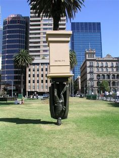 It may look strange to see a perfectly normal statue of a man, but then mounted upside down. However, there is significance behind it.  The statue is located in Melbourne, Australia and is a statue of Charles La Trobe, the first lieutenant-governor of the colony of Victoria, which is now a state of Australia. The artist of the statue, Charles Robb, wanted to bring attention to the understated acknowledgement of La Trobe, and mounted it upside down to represent the meaninglessness of public figures and statues.