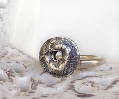 Pod Ring Cast in Sterling Silver by mariastudio on Etsy