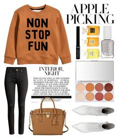 """Apple  picking"" by bich-what ❤ liked on Polyvore featuring MICHAEL Michael Kors, Essie, Chanel and Giorgio Armani"