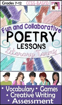 Over 100 pages of engaging resources for even the most reluctant reader of poetry. A bundle of four products - check it out!