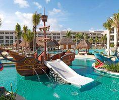 Best All-Inclusive Family Resorts: Paradisus Playa del Carmen La Esmerelda. Great travel ideas for families! #Travel #FamilyTrips #AllInclusive –– Travel + Leisure