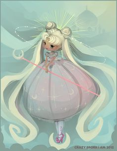 sailor moon neo queen serenity chibi form awww so cute
