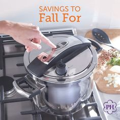 🍂Savor #savings on #cookware, #tools that will have you #cooking up your favorite #fall comfort foods all year long! Cookware, Kettle, Kitchen Appliances, Cooking, Fall, Ecommerce, Comfort Foods, Pots, October