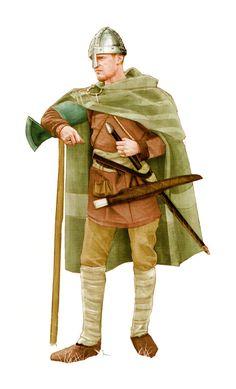 Anglo-Saxon warrior, 10th century Anglo Saxon History, European History, British History, American History, Ancient History, Ancient Egyptian Art, Ancient Aliens, Ancient Greece, Medieval Armor