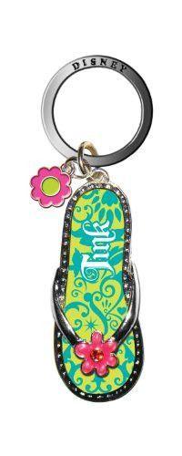 Disney Tinker Bell Green Flip Flop Key Ring
