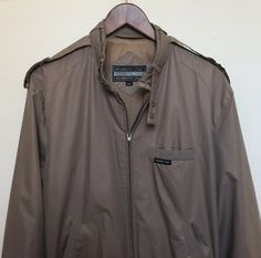 Vintage Members Only jacket brown taupe by twinflamesboutique