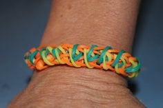 Multicolored Rainbow Loom Bracelet by GlittabombFeFe on Etsy