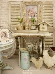 Blog d'une artisanne-maquettiste, créatrice d'ambiances, de décors, accessoires et maisons miniatures.