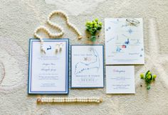 Cape cod invitation with custom map by dulcepress.com love the starfish and shells in this nautical wedding www.kellydillonphoto.com6