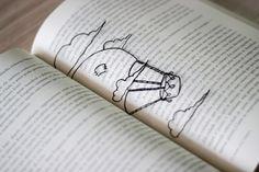 t w o b e e: [DIY] Marcadores de livros transparentinhos